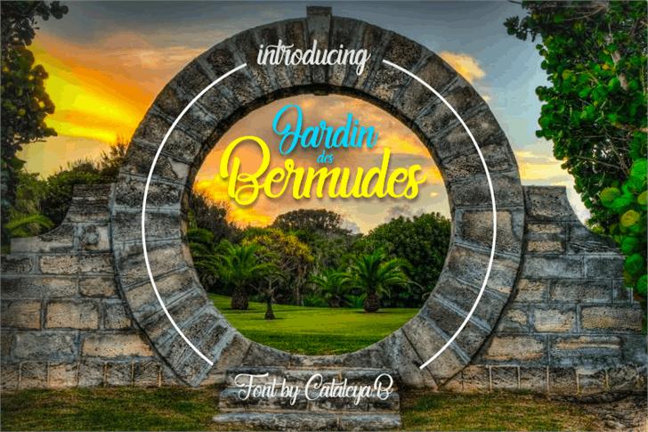 Jardin des Bermudes font by Foundmyfont Studio Typeface LTD