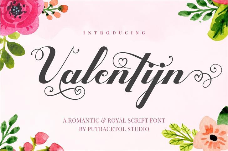 Valentijn FreeVersion font by PutraCetol Studio