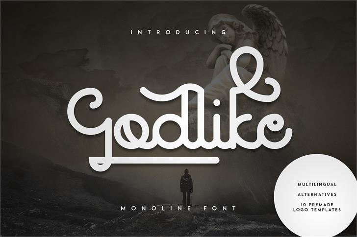 Godlike font by vladfedotovv