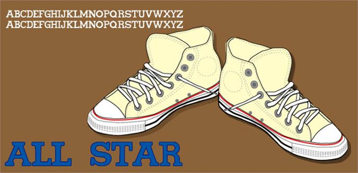 All star Font footwear cartoon