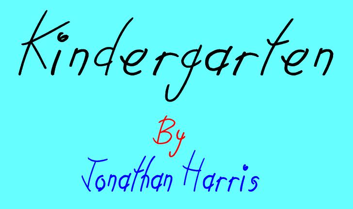 Kindergarten Font handwriting text