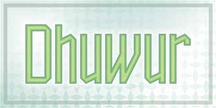 Dhuwur Font screenshot design