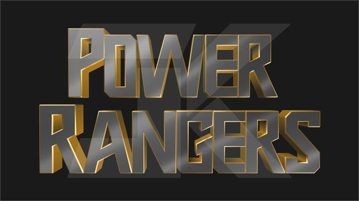 Power Rangers 2019 font by JK Typeface