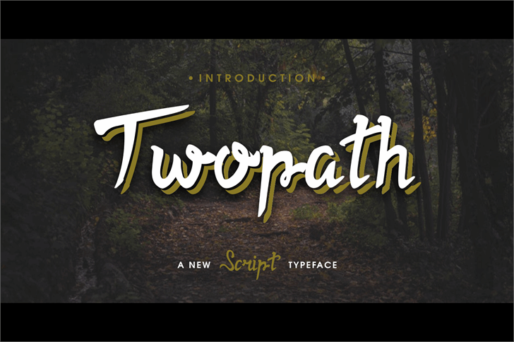 Twopath Font script typeface