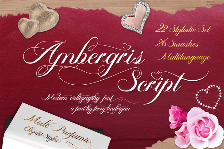 Ambergris Script Free Personal Font handwriting text