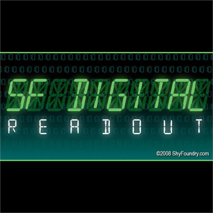 SF Digital Readout Font screenshot green