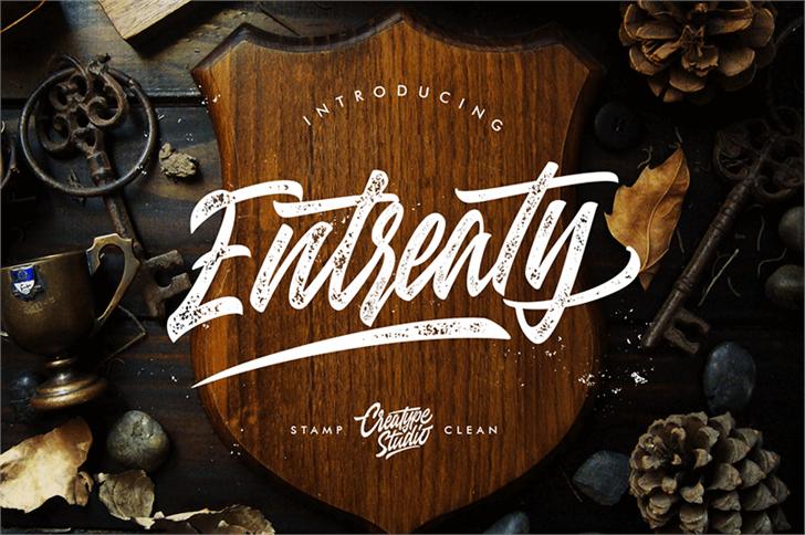 Entreaty Font handwriting