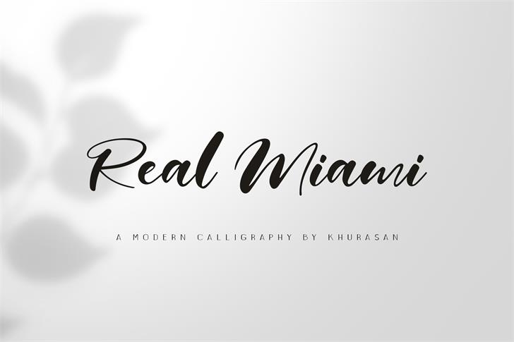 Real Miami Font design typography