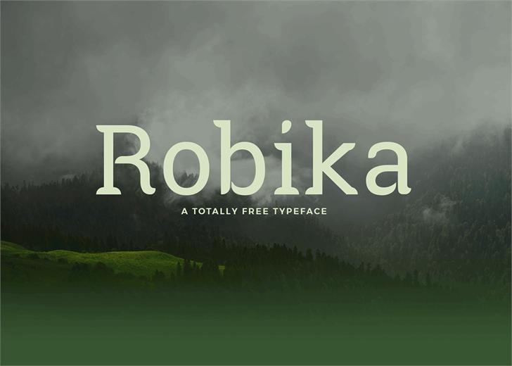 Robika Font screenshot fog