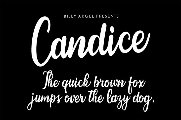 Candice Font text typography