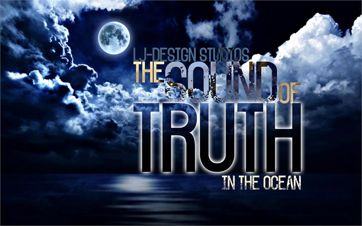 The Sound of Truth Font moon screenshot