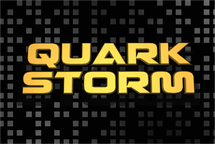 Quark Storm Font screenshot poster