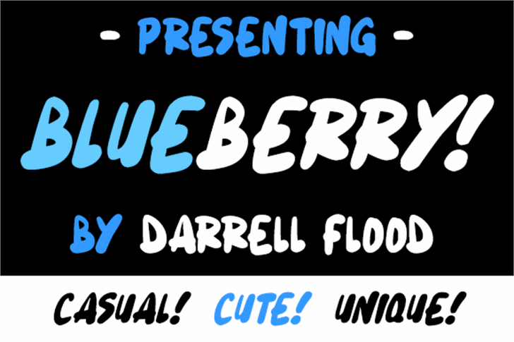 Blueberry font by Darrell Flood