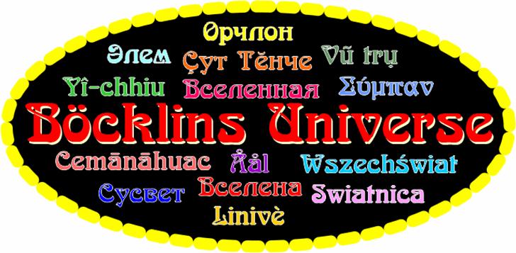 Boecklins Universe font by Peter Wiegel