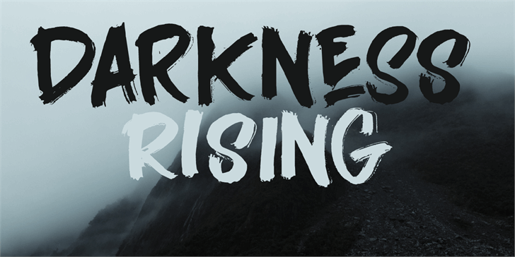 Darkness Rising DEMO Font handwriting typography