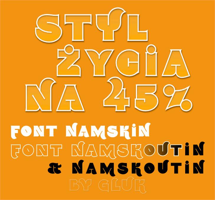 Namskout Font design poster