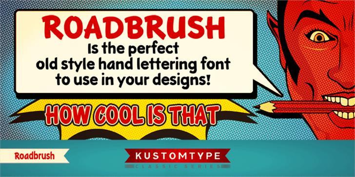 KTF-Roadbrush font by KTF | Kustomtype
