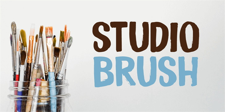 Studio Brush DEMO Font typography design