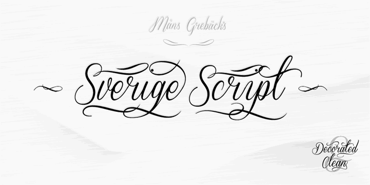 Sverige Script Demo font by Måns Grebäck