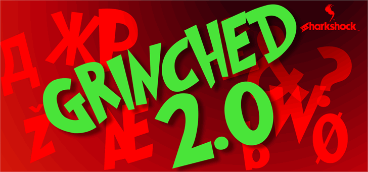 Grinched 2.0 Font poster stop