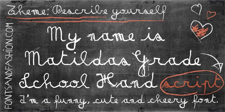 MATILDAS GRADE SCHOOL HAND_DEMO Font blackboard handwriting