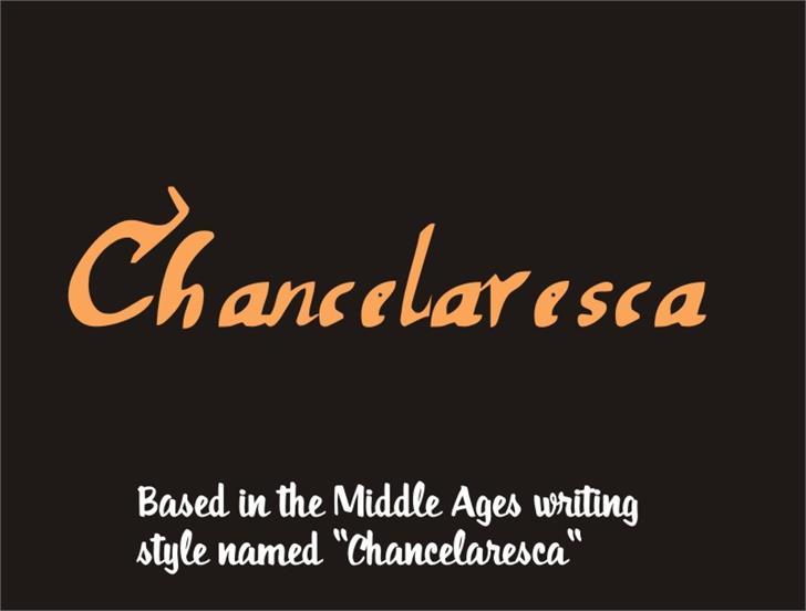 chancelaresca Font text design