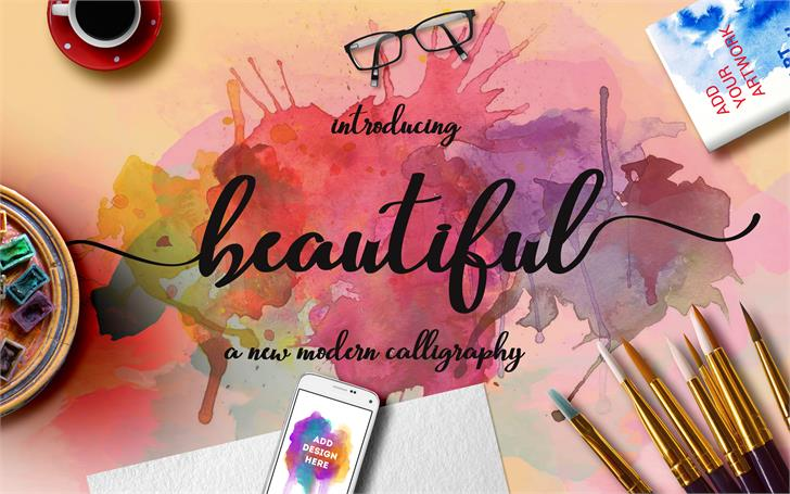 Beautiful Script Font handwriting child art