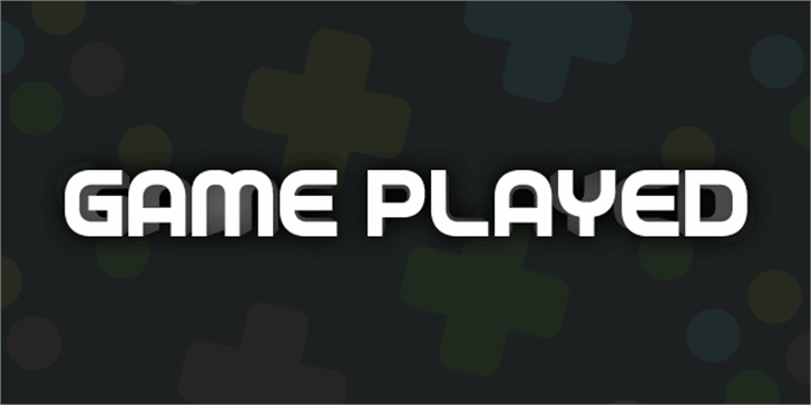 Game Played font by Chequered Ink