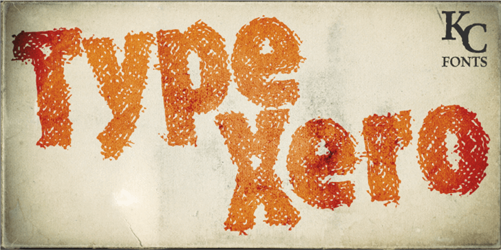 Type Xero Font drawing child art