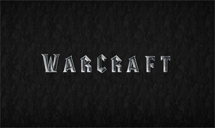warcraft Font screenshot design