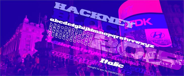 Hackney Block font by sharkshock