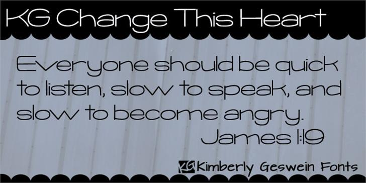 KG Change This Heart Font handwriting typography