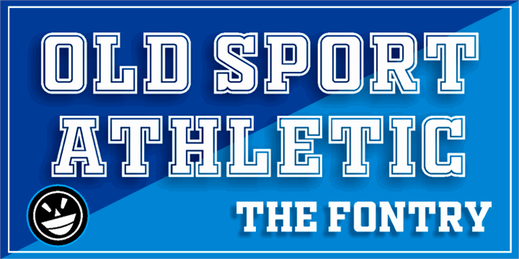 OLD SPORT ATHLETIC font by the Fontry