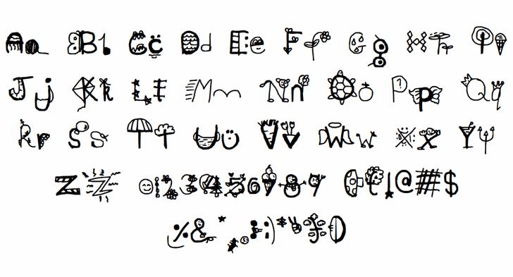 Vous devez télécharger ce! Font Letters Charmap