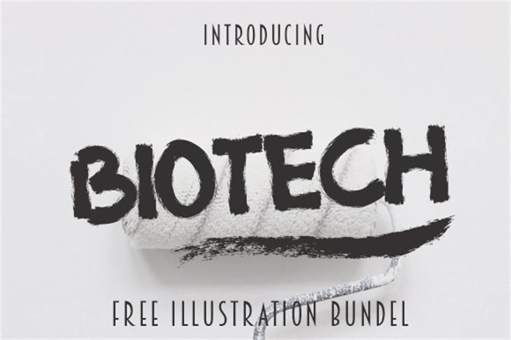 BIOTECH Font font text
