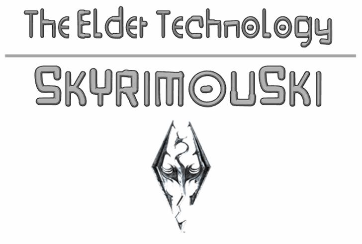 Skyrimouski Font sketch drawing