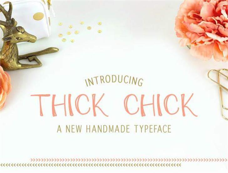 ThickChick Font flower dish