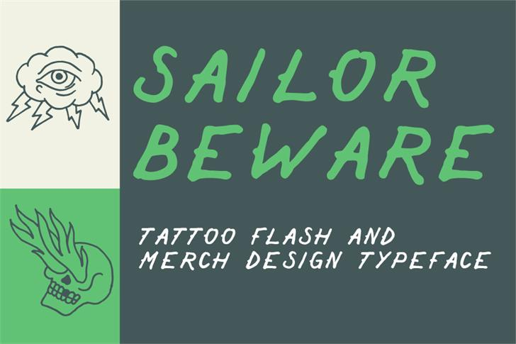 Sailor Beware Font handwriting design
