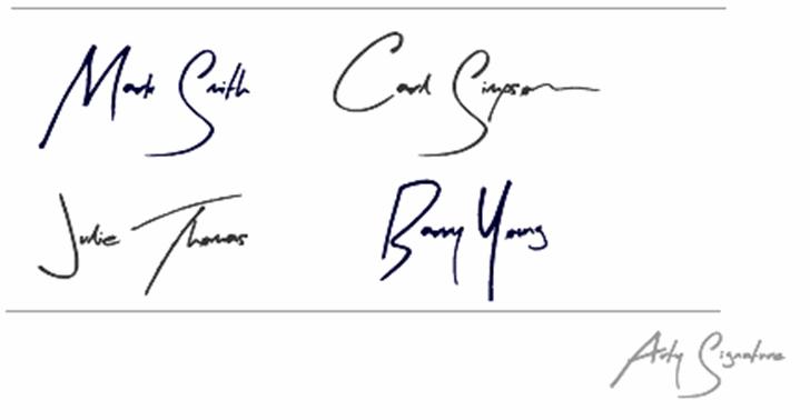 Arty Signature Font handwriting drawing