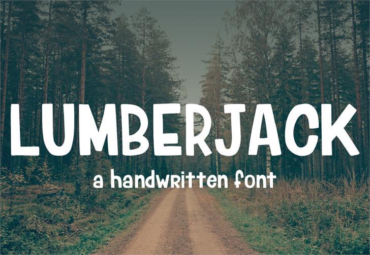 Lumberjack Font tree outdoor