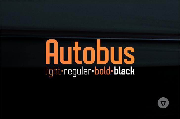 Autobus Bold Font screenshot design