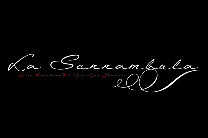 La Sonnambula Font handwriting design