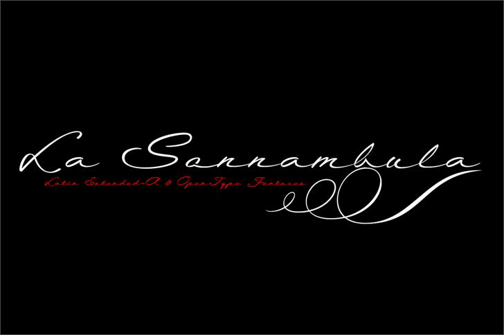 La Sonnambula Font handwriting design