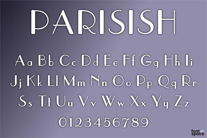 Parisish Font poster