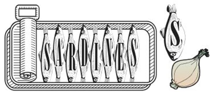 Sardines Font sketch drawing