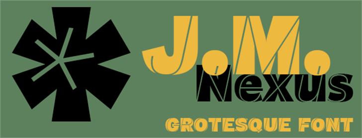 J.M. Nexus Grotesque Font design graphic