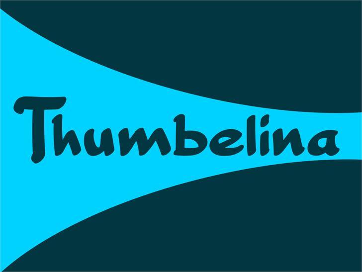 Thumbelina Font design graphic