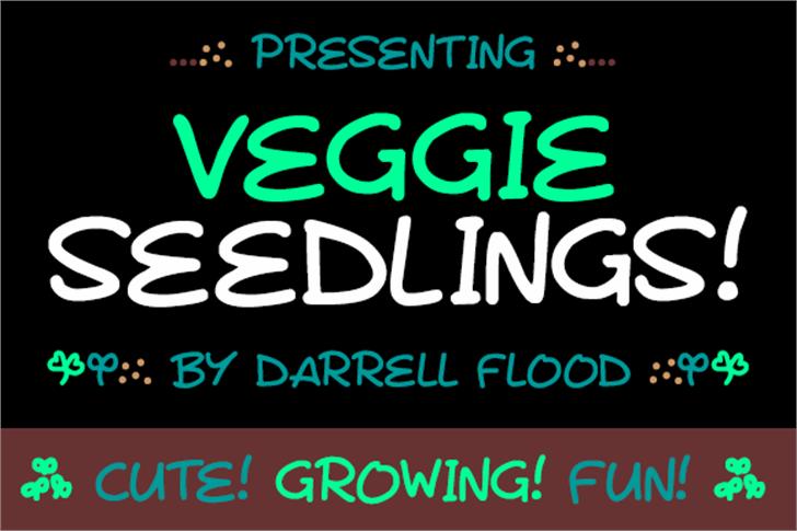 Veggie Seedlings Font screenshot font