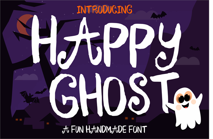 Happy Ghost Font poster