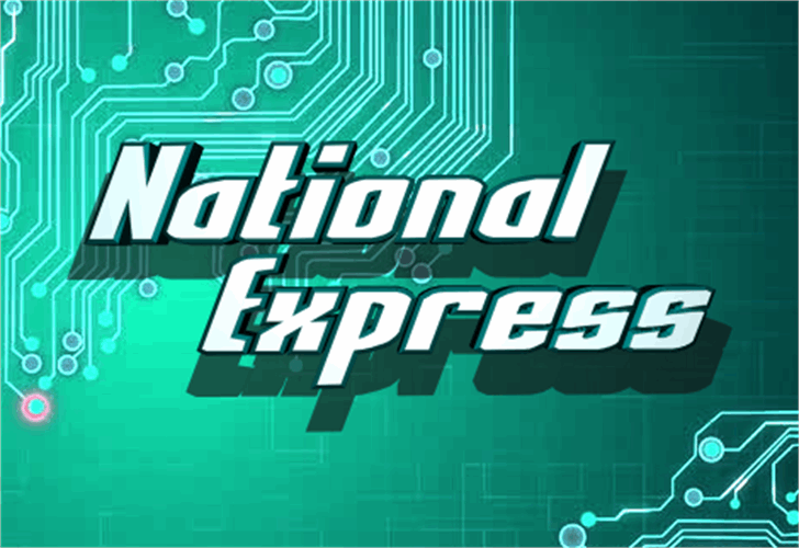 National Express font by Iconian Fonts